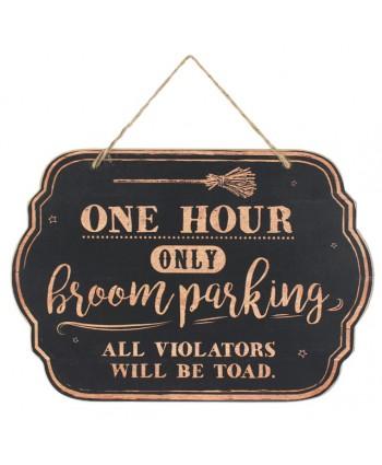 Broom Parking Sign