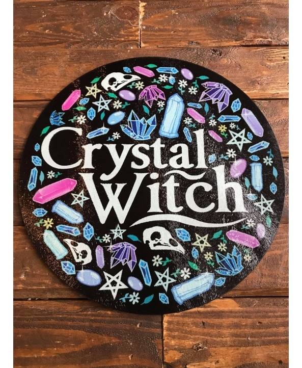 Crystal Witch Glass Chopping Board