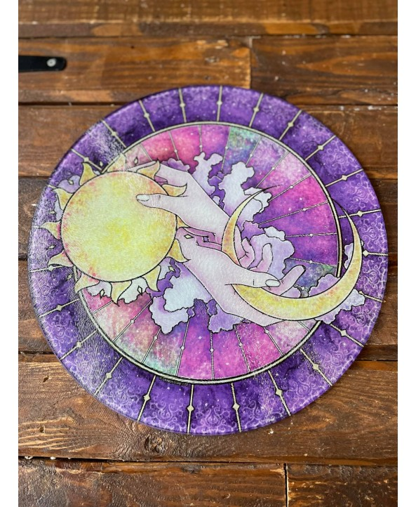 Night and Day Glass Chopping Board