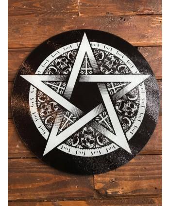 Pentagram Glass Chopping Board