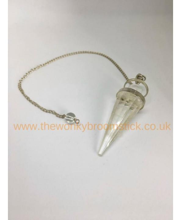 Goddess Clear Quartz Pendulum