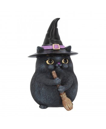 Black Witchy Cat Statue