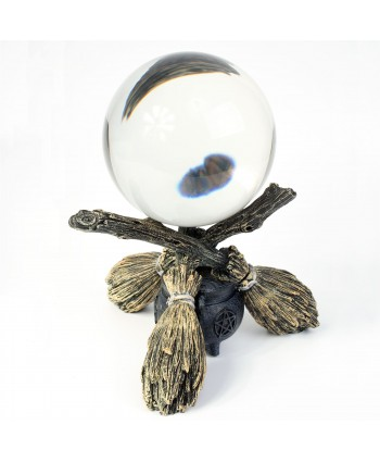 Broomstick Stand with Crystal Ball