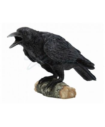Crow on Branch Statue
