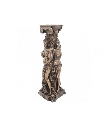 Triple Goddess Candlestick Holder