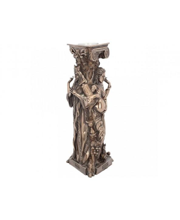 Triple Goddess Candlestick Holder