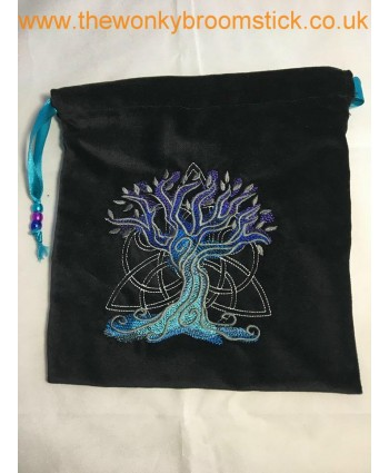 Dark Celtic Tree of Life Tarot Bag