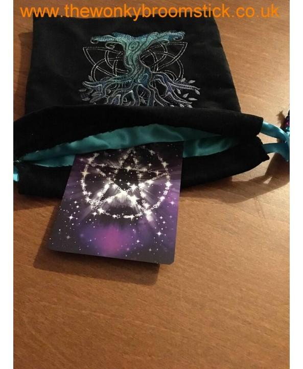 Dark Celtic Tree of Life Tarot Bag