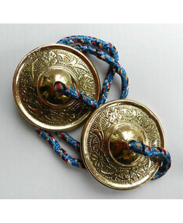 Tibetan Brass Bells - PAIR