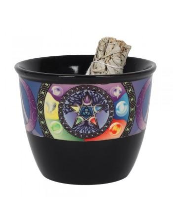 Pentagram Smudge Bowl