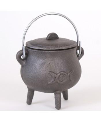 Triple Moon Cast Iron Cauldron - SMALL