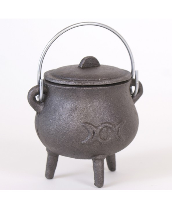 Triple Moon Cast Iron Cauldron - SMALL
