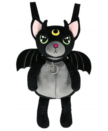 Green Eye Fluffy Cat Backpack