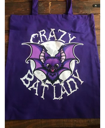 Crazy Bat Lady Tote Bag