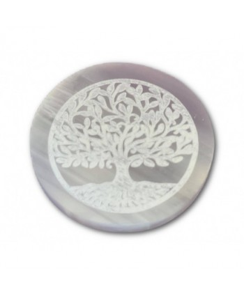Selenite Tree of Life Charging Plate - Small