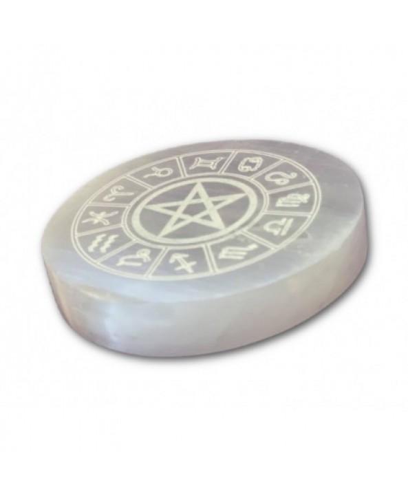 Selenite Zodiac Charging Plate - Small