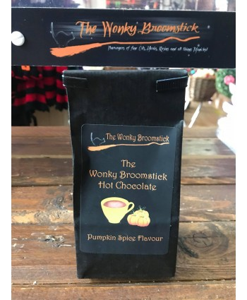 Wonky Broomstick Pumpkin Spice Hot Chocolate