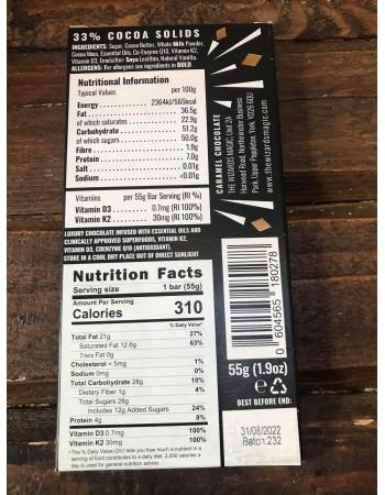 The Wizards Immunity Chocolate Bar- Caramel