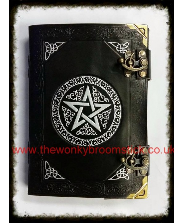 Black & Silver Pentagram Book of Shadows