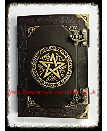 Black & Gold Pentagram Book of Shadows