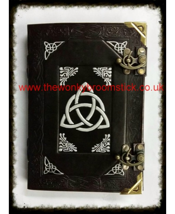 Black & Silver Triquetra Book of Shadows