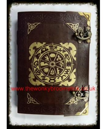 Brown & Gold Wheel of the Year Book of Shadows