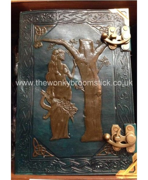 Green & Brown Earth Goddess Book of Shadows