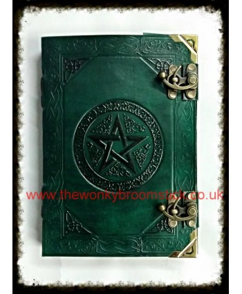 Green & Black Pentagram Book of Shadows