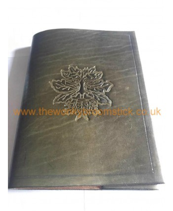 Green Man Leather Cover