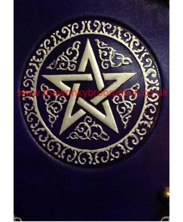 Purple & Silver Pentacle Book of Shadows