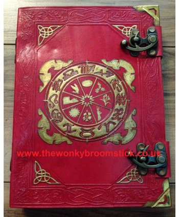 Red Wheel of the Year Book of Shadows